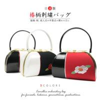 椿刺繍バッグ